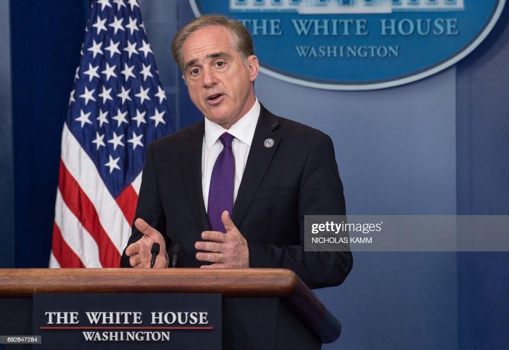 US Veterans Affairs Secretary David Shulkin speaks during the press briefing at the White House in Washington, DC, on June 5, 2017. /