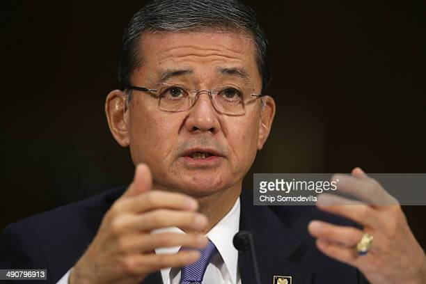 S Veterans Affairs Secretary Eric Shinseki testifies before the Senate Veterans' Affairs Committee about wait times veterans face to get medical care...