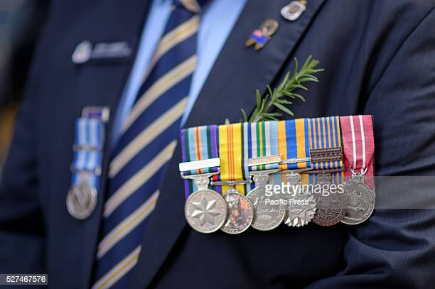 Veterans and family members march during the ANZAC Day parade in Sydney Australia Australians commemorated 101 years since the Australian and New...