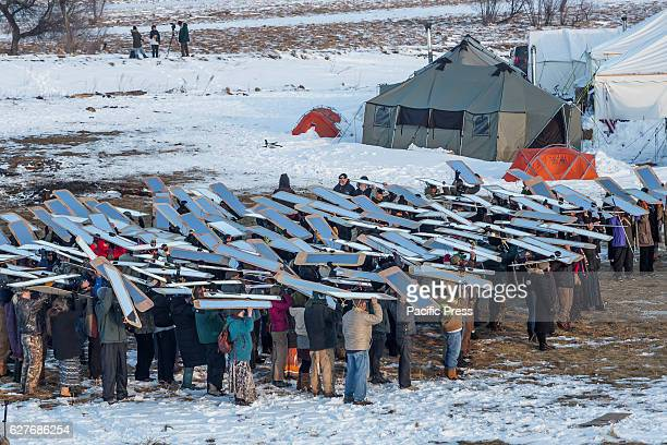Veterans arrived en mass to Standing Rock, bringing a massive amount of supplies including winter clothing, food and firewood by the truck load. Over...