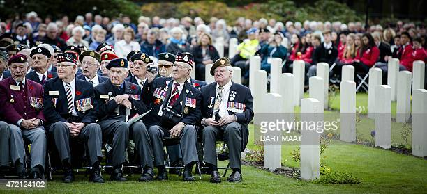 Veterans commemorate the war dead at the National Remembrance Day on the Holterberg in Holten on May 4 2015 The ceremony is held annually and...