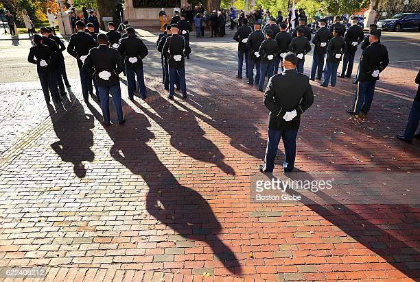Veterans Day Commermoration Ceremony was held for the 54th Massachusetts Volunteer Regiment in front of the Shaw Memorial across from the State House...