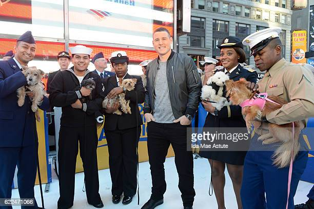 AMERICA Veteran's Day is celebrated on GOOD MORNING AMERICA 11/11/16 airing on the ABC Television Network ANTHONY RIZZO of the Chicago Cubs poses...