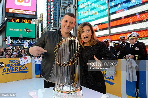 AMERICA Veteran's Day is celebrated on GOOD MORNING AMERICA 11/11/16 airing on the ABC Television Network ANTHONY RIZZO of the Chicago Cubs and...