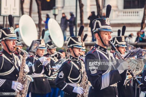 veterans day parade on fifth avenue - cosplay stock photos and pictures