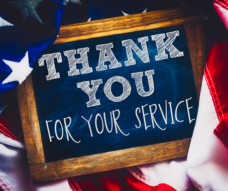 Veterans Day thank you to military veterans for their service 514234418