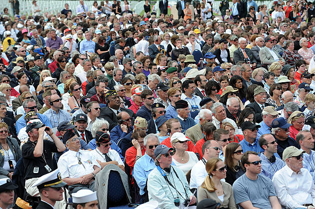 Veterans Listen To Speeches During The D Day Anniversary Cer