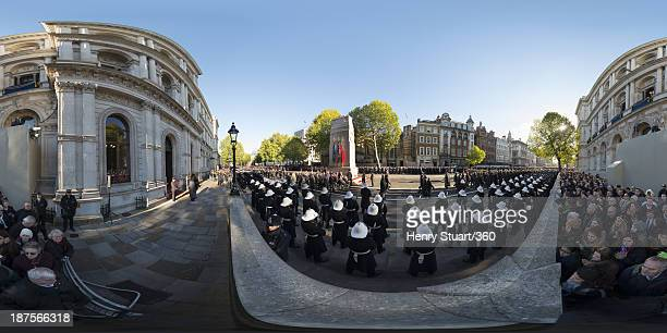 Veterans march past the Cenotaph during a wreath laying ceremony held in Whitehall on November 10 2013 in London United Kingdom People across the UK...