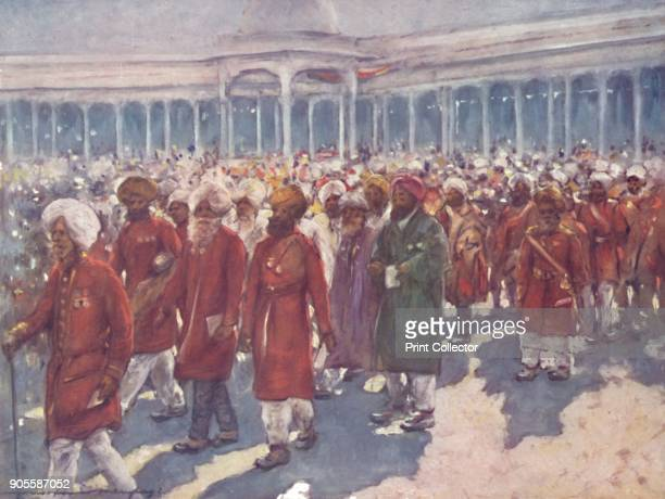 'Veterans of the Mutiny on the Great Day' 1903 Also known as the Imperial Durbar the Delhi Durbar was held three times in 1877 and 1911 at the height...