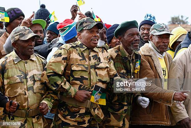 Veterans of the uMkhonto we Sizwe the armed wing of the African National Congress cofounded by Nelson Mandela in the wake of the 1960 Sharpeville...