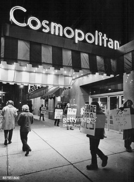 Veterans Picket View Dinner Veterans picketed outside the Cosmopolitan Hotel Su dinner celebrating the 75th anniversary of the Veterans of Foreign Wc...