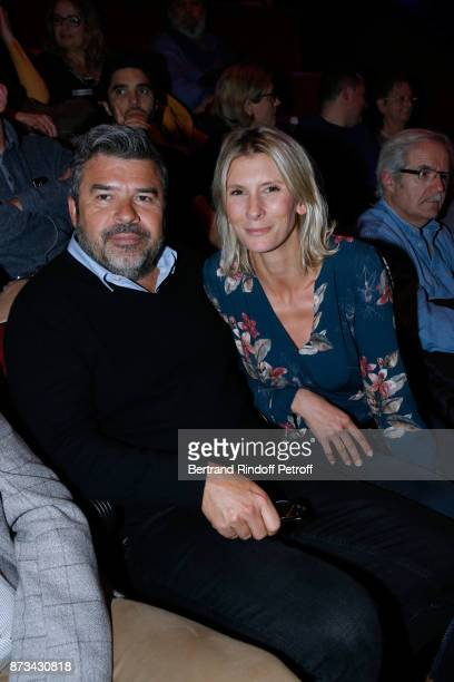 Veterinary Helene Gateau and her husbant Stephane attend Depardieu Chante Barbara at Le Cirque D'Hiver on November 11 2017 in Paris France