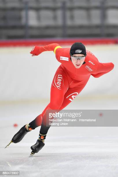 Vetle Stangeland of Norway performs during the Men 1500 Meter at the ISU Neo Senior World Cup Speed Skating at Max Aicher Arena on November 26 2017...
