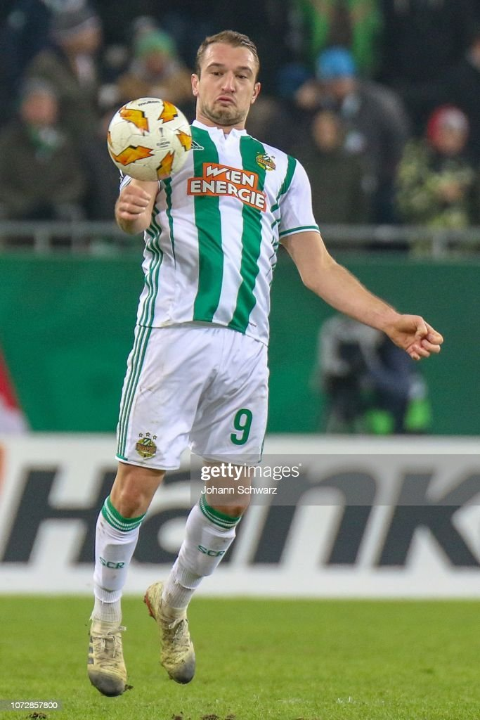 Veton Berisha of Rapid during the UEFA Europa League match ...