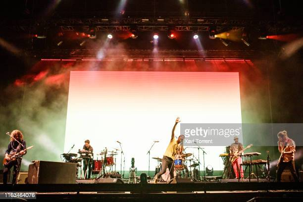 Vetusta Morla perform in concert during the Festival Internacional de Benicassim on July 21, 2019 in Benicassim, Spain.