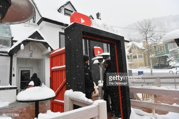 A vew outside YouTube Studio for the Respect Rally Park City Post Reception at the YouTube House on January 20 2018 in Park City Utah