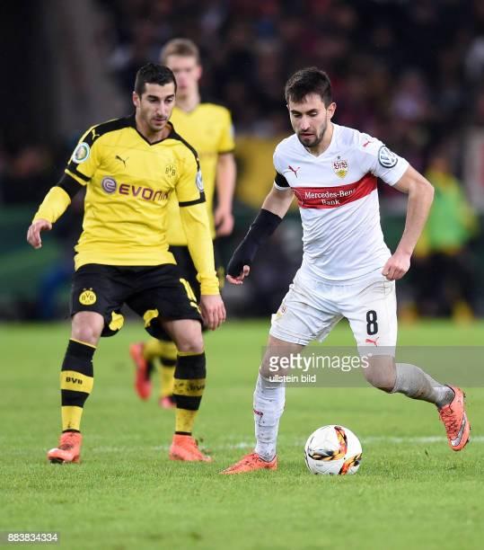 FUSSBALL VfB Stuttgart Borussia Dortmund Henrikh Mkhitaryan gegen Lukas Rupp