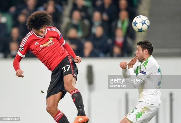 FUSSBALL CHAMPIONS VfL Wolfsburg Manchester United Marouane Fellaini gegen Christian Traesch