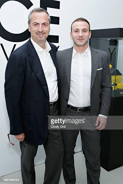 Vhernier Jewels President Carlo Traglio and Gian Antonio Pisterzi attend the Fierce Creativity Art Exhibition Reception at 545 West 22nd Street on...