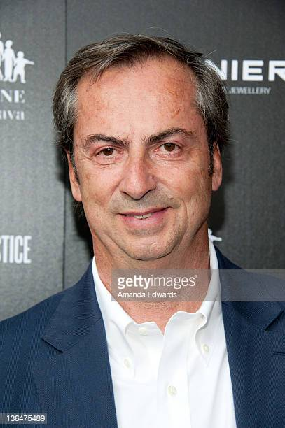 Vhernier Jewels President Carlo Traglio arrives at the Artists for Peace and Justice A Ring to Educate a Child in Haiti launch event at Vhernier...