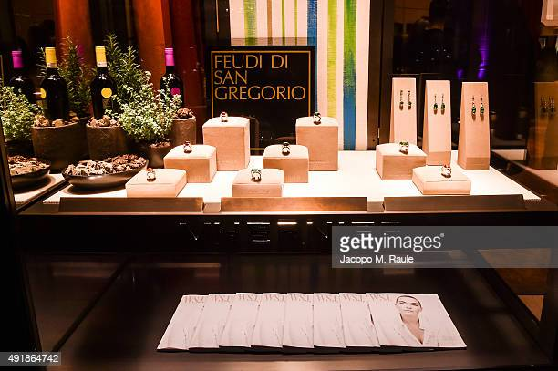 Vhernier Shop window during 'La Vendemmia 2015' The World's Finest Wine Lifestyle Experience on October 8 2015 in Milan Italy