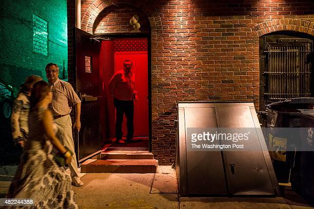 PHILADELPHIA PENNSYLVANIA Via an alley customers enter a hidden speakeasy The Ranstead Room on Friday evening in Philadelphia Pennsylvania July 10th...