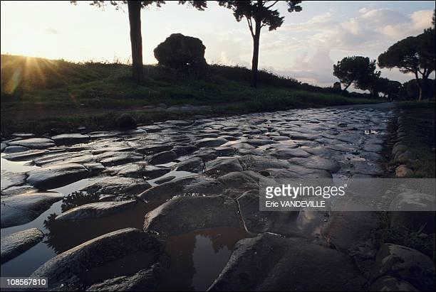 Via Appia in Rome Italy in July 2000