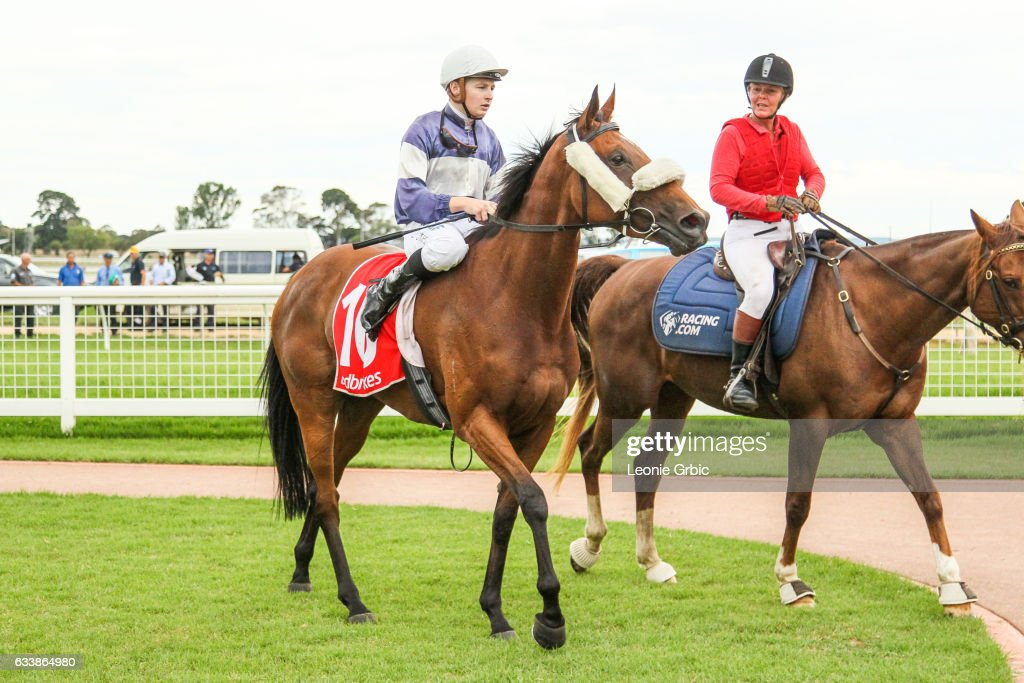 Via Cavour ridden by Jordan Turner returns after winning the GBG Concrete & Constructions Grand Hcp Mid Distance Win & You're In at Sale Racecourse on February 05, 2017 in Sale, Australia.