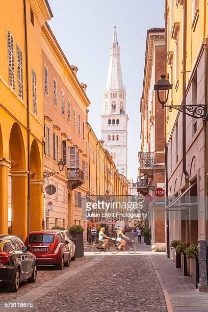 Via Cesare Battisti in Modena, Italy.