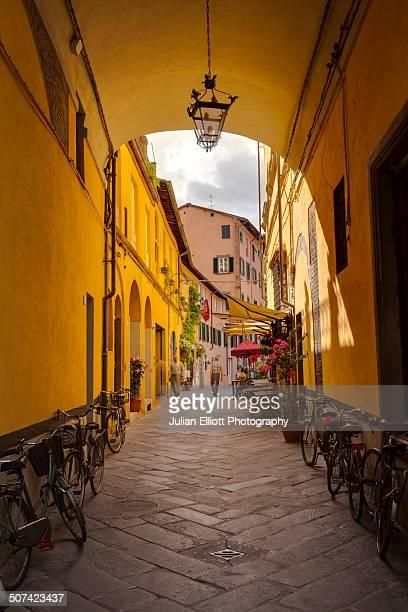 Via Degli Angeli in the historic centre of Lucca