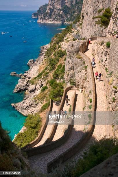Via Krupp Capri island Naples Campania Italy Europe