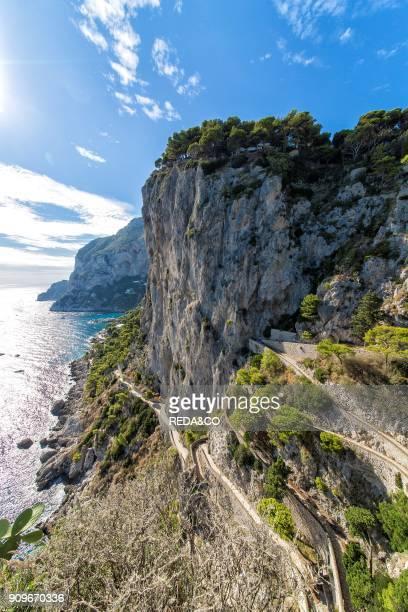 Via Krupp path Capri island Campania Italy Europe