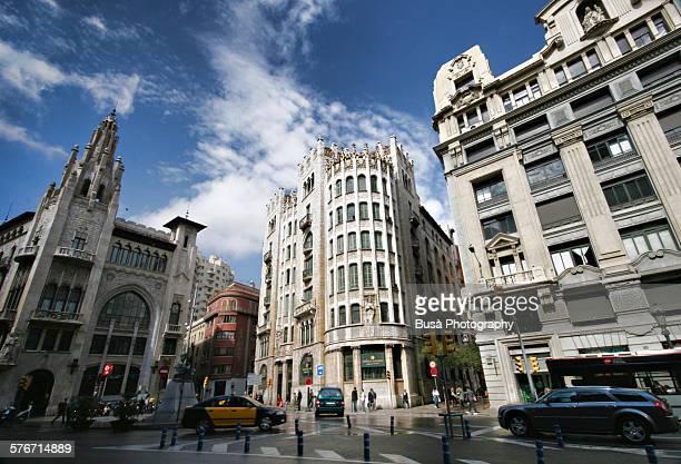 Via Laietana in Barcelona, Spain