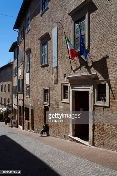 Via Raffaello street Raffaello's Birthplace UNESCO World Heritage Site Urbino Marche Italy Europe