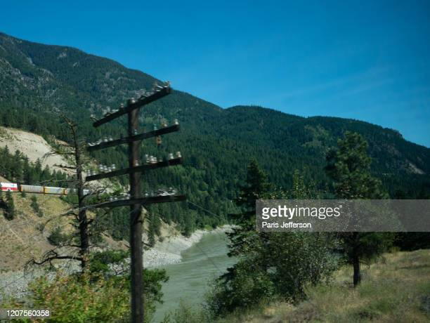 via rail & cn trains of canada - kamloops stock pictures, royalty-free photos & images