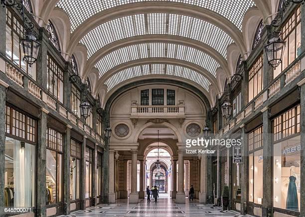 Via Roma shopping gallery, Turin , Italy