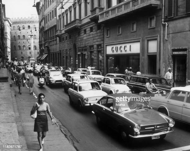 Via tornabuoni, florence, Tuscany, italy, 1969.