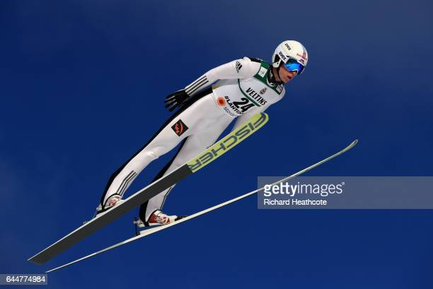Viacheslav Barkov of Russia competes in the Men's Nordic Combined HS100 during the FIS Nordic World Ski Championships on February 24 2017 in Lahti...