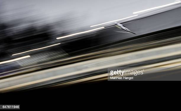 Viacheslav Barkov of Russia competes in the Men's Nordic Combined HS130 Ski Jumping / 2 x 75km Team Sprint Cross Country during the FIS Nordic World...