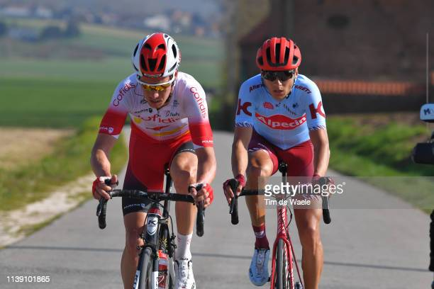 Viacheslav Kuznetsov of Russia and Team Katusha Alpecin / Kenneth Vanbilsen of Belgium and Team Cofidis Solutions Credits / during the 62nd E3...