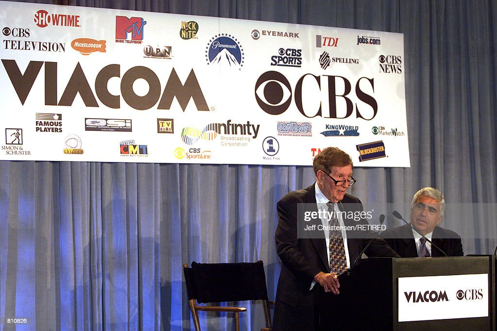 CBS and Viacom CEO's announce merger : News Photo
