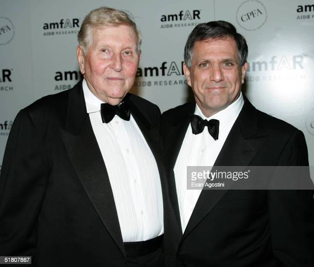 Viacom Chairman and CEO Sumner M Redstone and Les Moonves Copresident and CoCEO Viacom attend the amfAR New York Gala on November 30 2004 at The...
