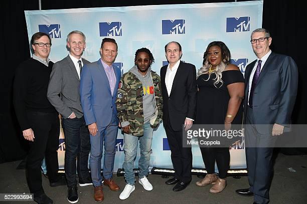 Viacom COO Tom Dooley Mtv President Sean Atkins television producer Mark Burnett musician Kendrick Lamar CEO of Viacom Philippe Dauman actress Nicole...