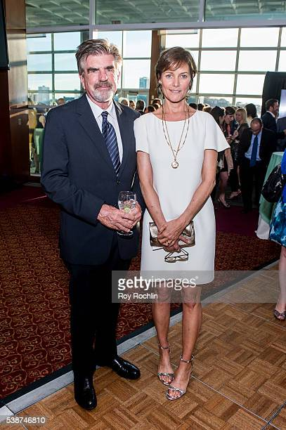 Viacom Executine Tom Freston with actress Carey Lowell attend the Sanctuary For Families Zero Tolerance Benefit 2016 at Pier Sixty at Chelsea Piers...