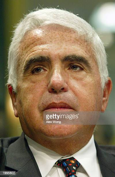 Viacom President and Chief Executive Officer Mel Karmazin pauses as he testifies during a hearing on media ownership before the Senate Committee on...