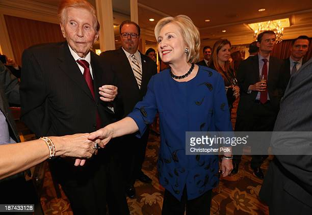 Viacom/CBS Executive Chairman Sumner Redstone and former Secretary of State Hillary Clinton attend International Medical Corps Annual Awards...