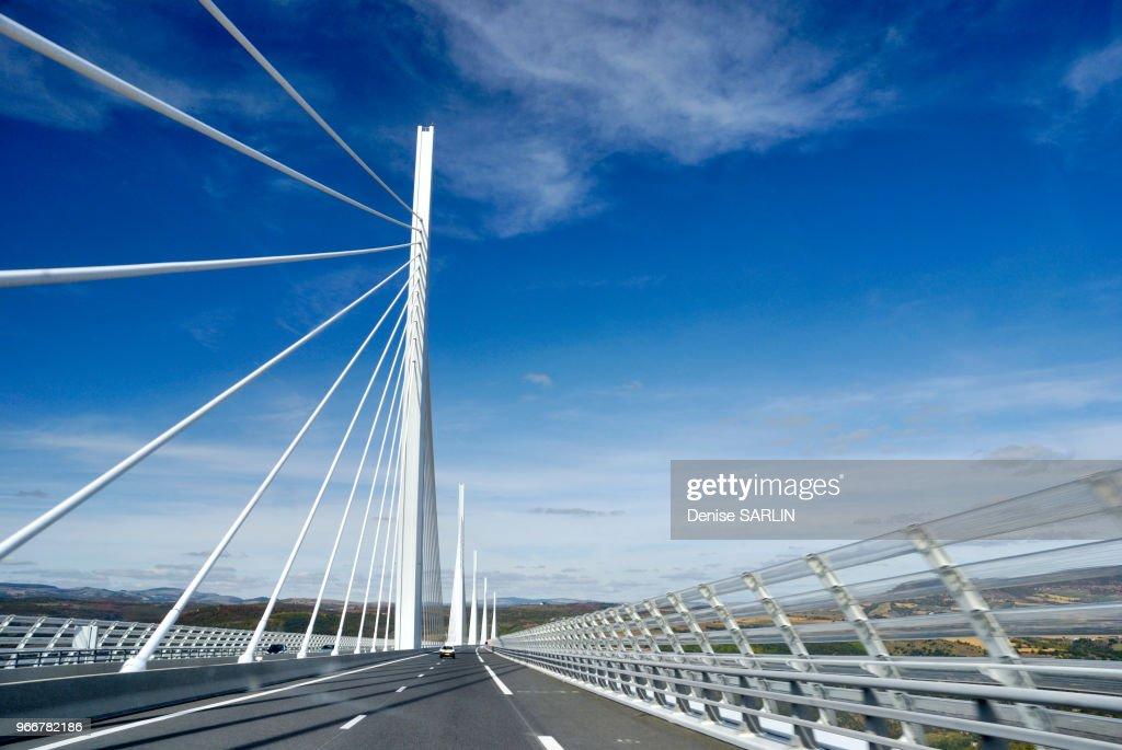 Viaduc De Millau Autoroute La Mridienne A75 E11 Aveyron France