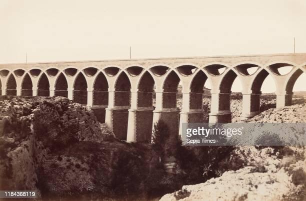 Viaduc de St Chamas before 1859 Albumen silver print from paper negative Image 36 x 543 cm Photographs ƒdouard Baldus