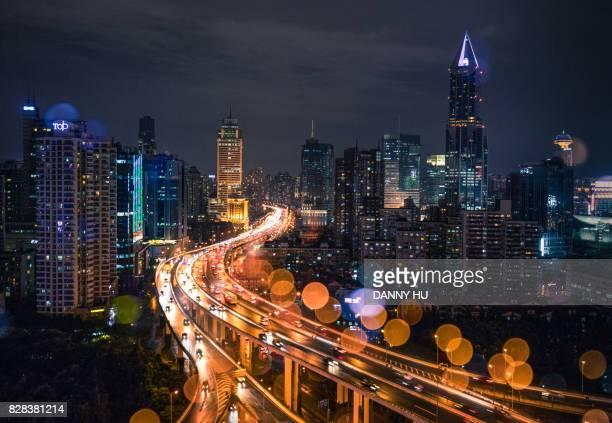 viaduct in Shanghai CBD