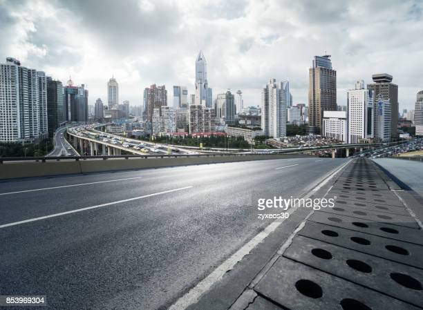 viaduct of the people's square in shanghai,china - east asia, - china east asia stock photos and pictures